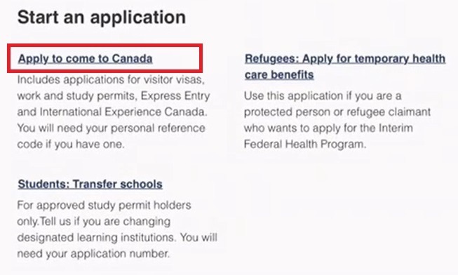 apply to come to canada
