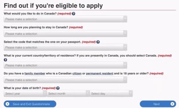 eligibility form