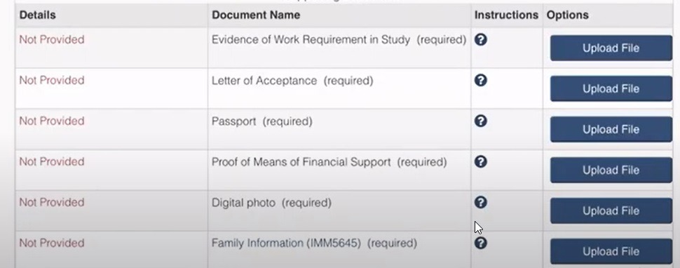 required documents for study permit