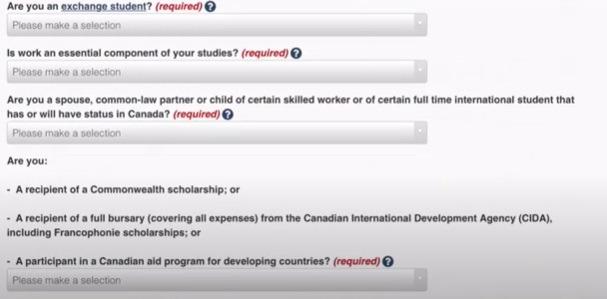 study permit questions