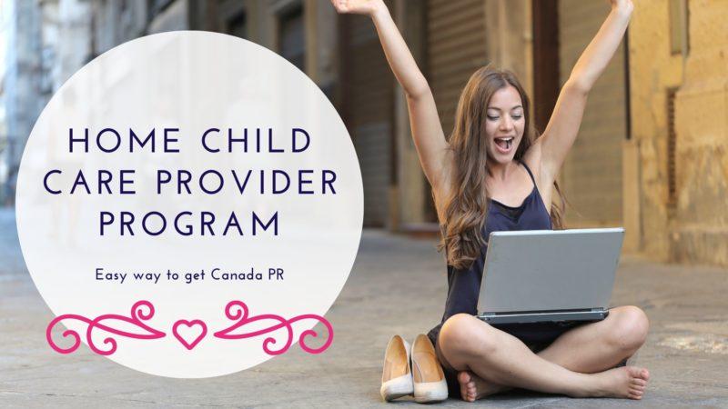Home child care provider pilot program