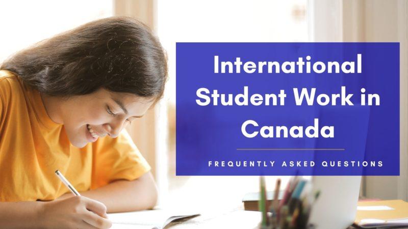 International student work in Canada
