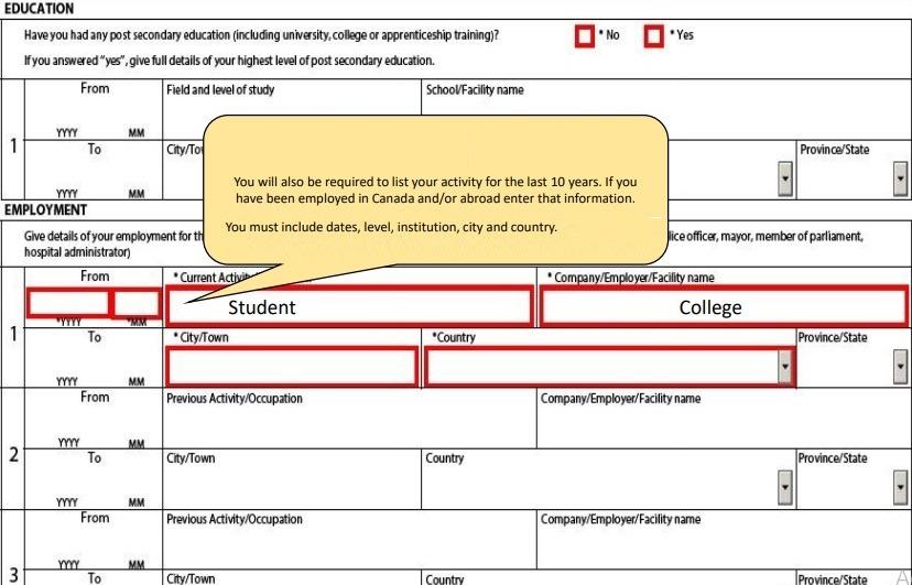 study permit education details