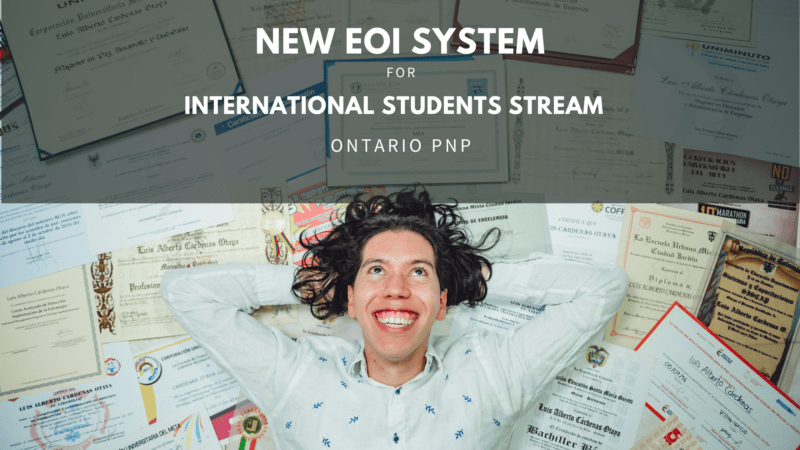 New EOI System 2021 for International Students Stream Ontario PNP