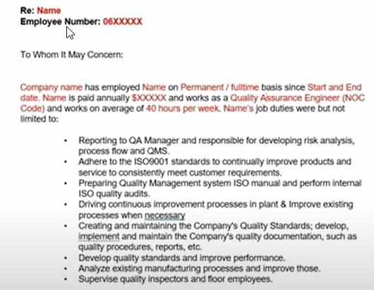 Sample Affidavit From Supervisor or Coworker