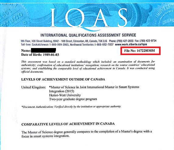 iqas eca certificate number