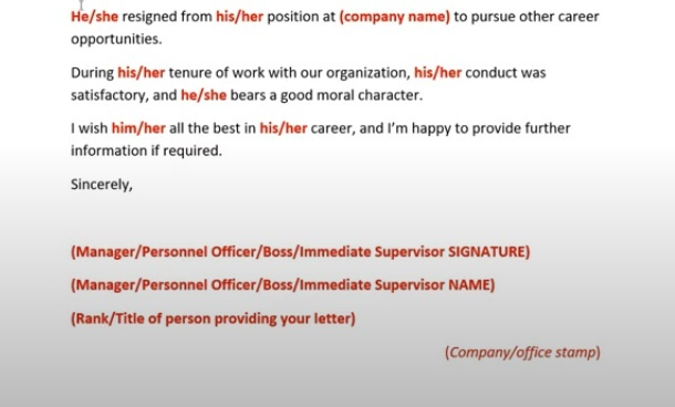 sample reference letter canada express entry